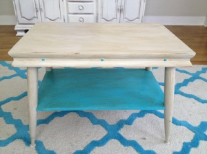 After: 1970's coffee table