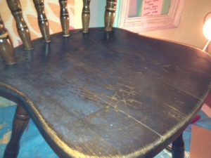 Close up picture of chair before