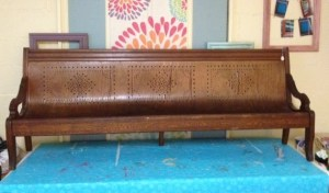 Before: Victorian children's pew