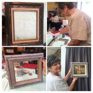 Brenda wanted to change a picture frame to match her newly painted wall