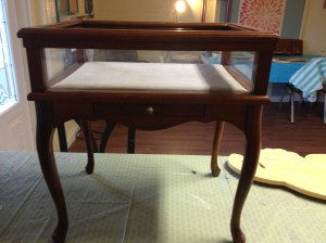 Before: Display cabinet