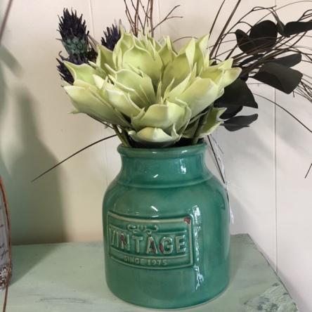 flower in vintage vase