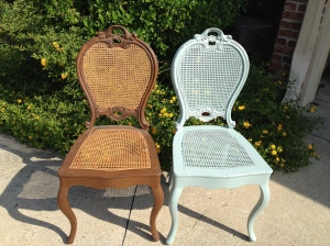 French Chairs - Before and After