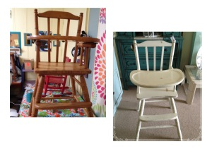 high chair collage