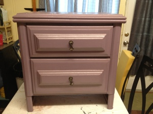 Before picture of nightstand