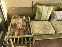 After picture of cart with Ireland pictures