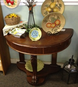 Before pic of wall table in shop