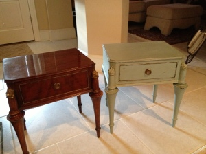 Before and After End tables