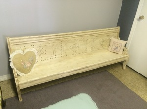 This is an adorable Victorian Children's bench or pew. It is 6ft. long, 15 inches wide, and 28 inches tall. It is on sale for $380.