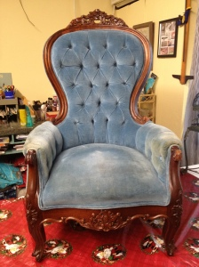 Before picture of antique chair