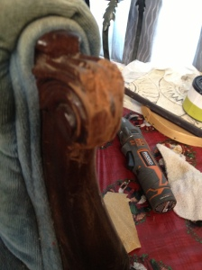 This shows some damage to one of the arms that had to be worked on.