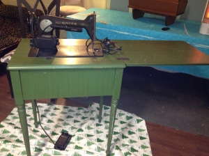 BEFORE sewing table