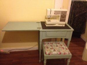 AFTER sewing table