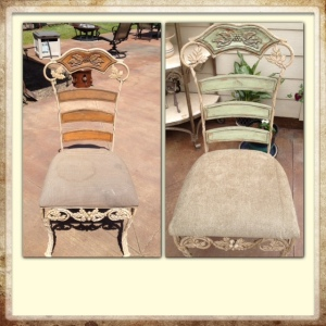 Before and After Pic of my patio chairs.