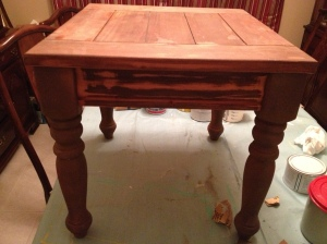 BEFORE square end table