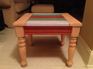 AFTER square end table