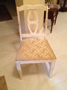 Before: vintage white chair