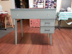 after pic of desk - I painted it, distressed it lightly and then put polycrylic.