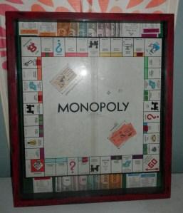1946 Monopoly Game framed