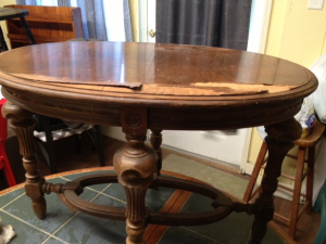 before oval coffee table