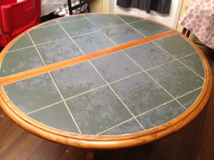 before tile table
