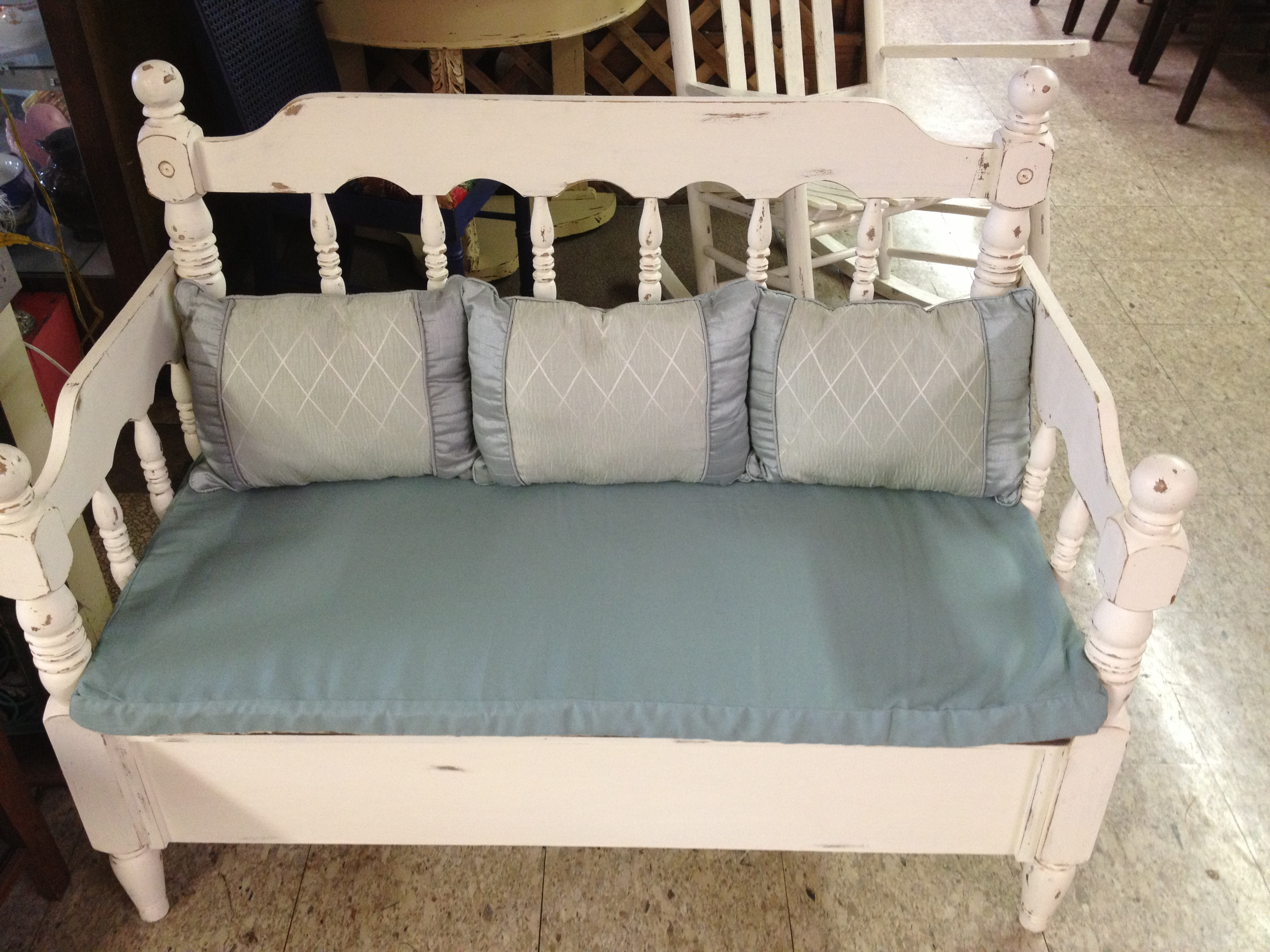 Bench Made From Twin Bed Frame Ginger S Attic