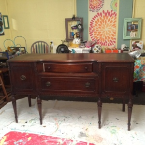 This buffet was passed down from my grandparents, then to my parents and then to me. I have had it for 36 years.