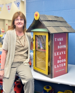 Ginger and Little free library 2