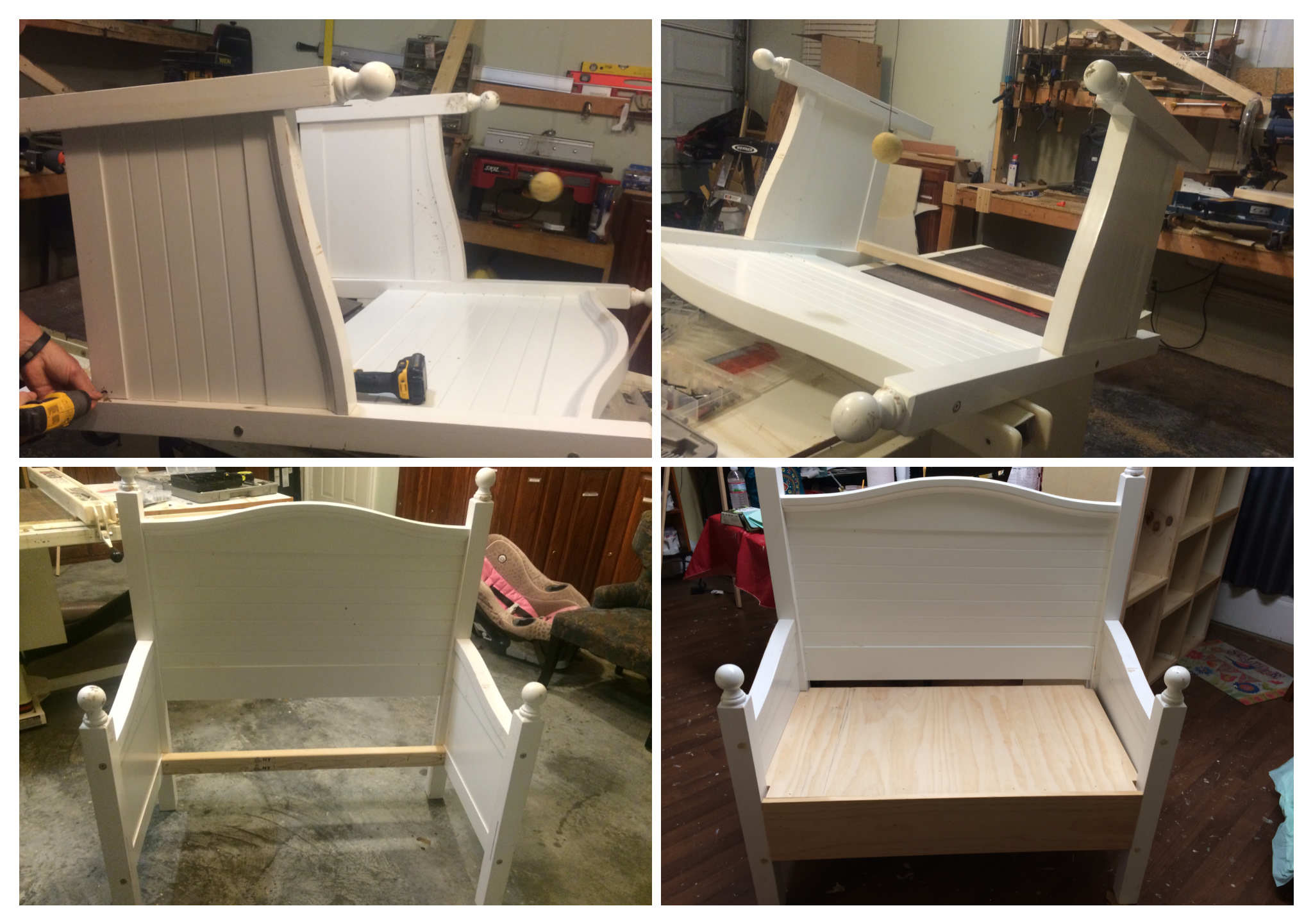 Excellent Bench Made From Twin Bed Frame Gingers Attic Gamerscity Chair Design For Home Gamerscityorg