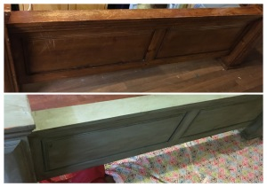 before and after of the footboard