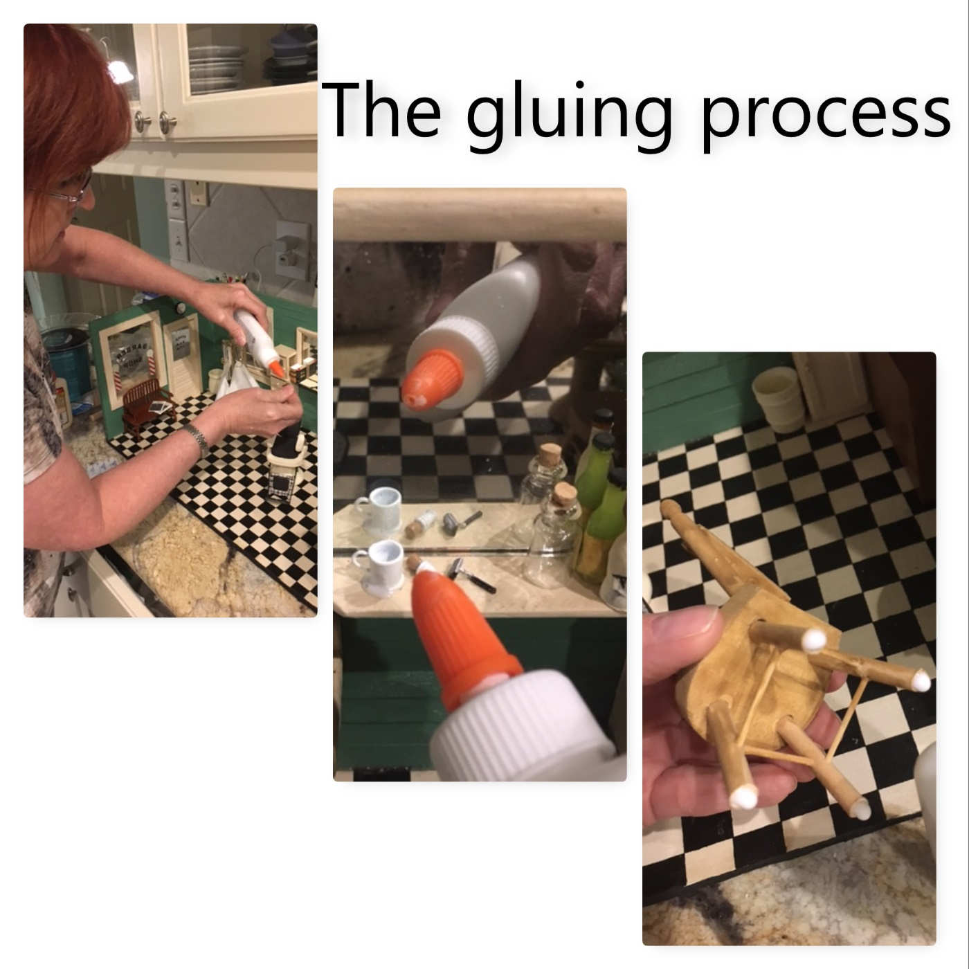 gluing process