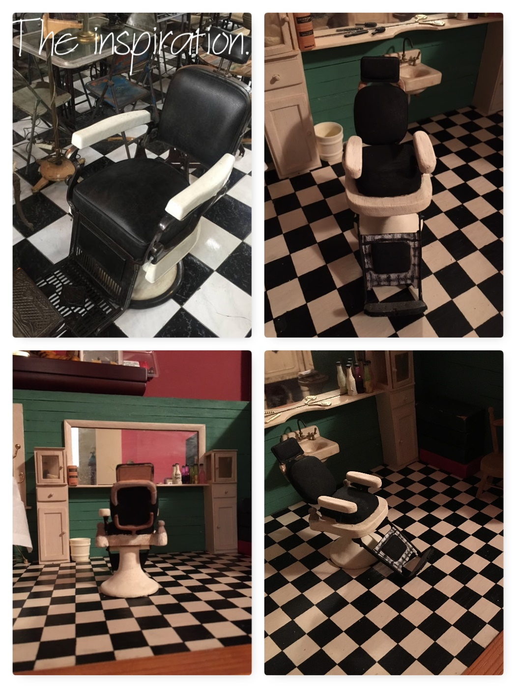 views of barber chair